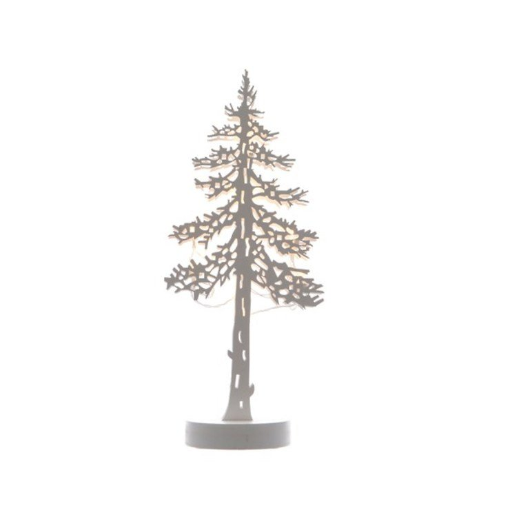Kaemingk Leuchtbaum Silhouette 35 cm Holz weiß - Pic 1