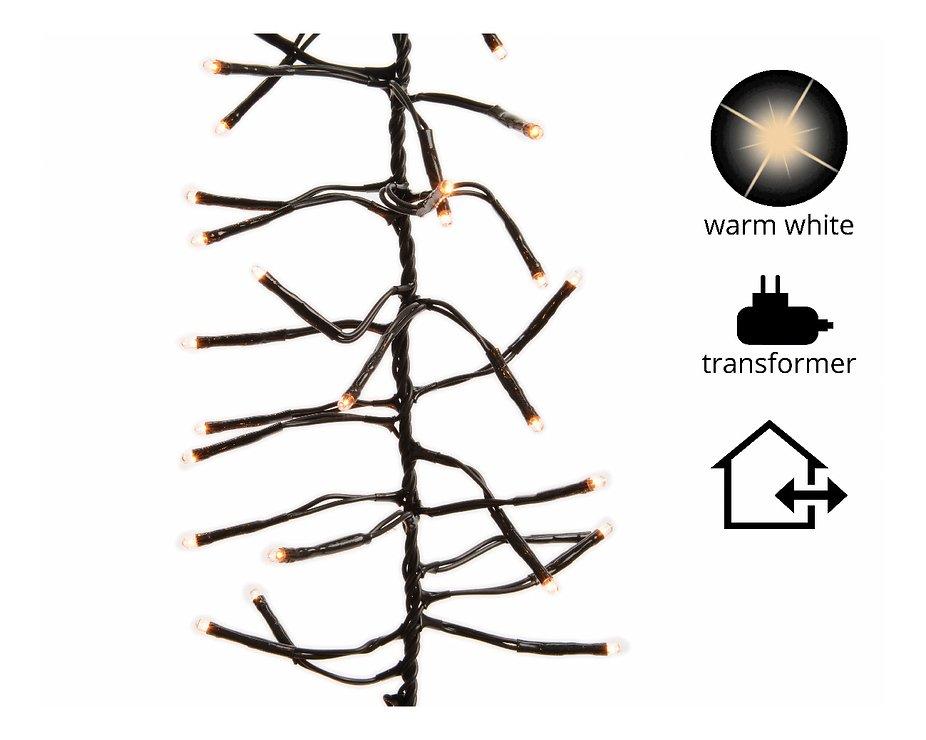 Kaemingk Lichterkette Cluster mit Dimmer 448 LED warm weiß außen 3 m schwarz - Pic 1