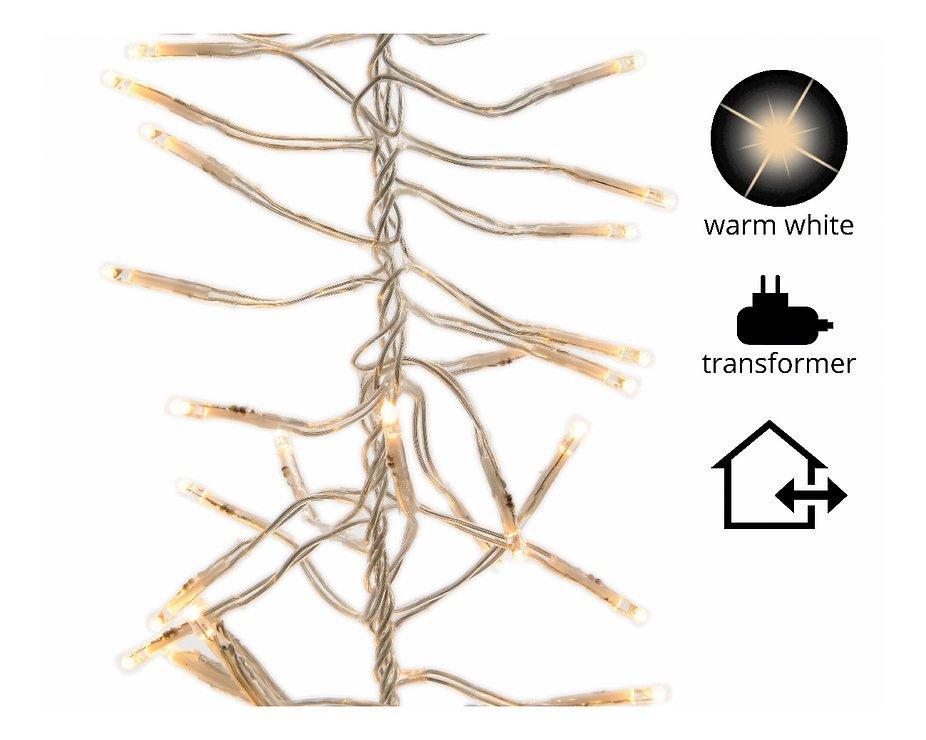 Kaemingk Cluster Lichterkette 768 LED warmweiß außen 6m transparent - Pic 1