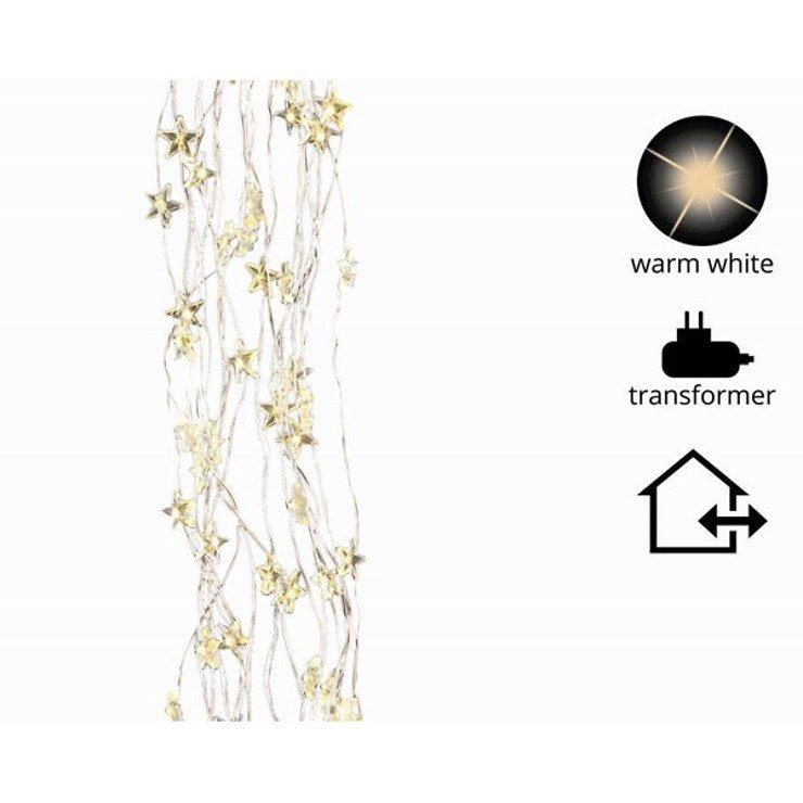 Kaemingk Lichtbündel Stern 320 Micro LED warm weiß 1,1 m außen silber - Pic 1