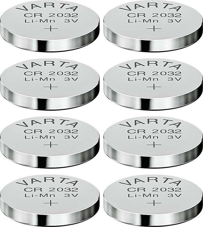 Varta Knopfbatterie Lithium CR 2032 3 Volt 8er Set - Pic 1