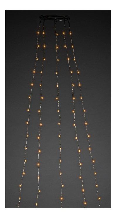 Konstsmide Lichterkette Baummantel 5 Silberdrahtstränge 300 LED bernsteinfarben - Pic 1