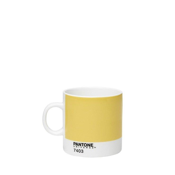 Pantone Universe Espressotasse Light Yellow 7403 120 ml Bone China - Pic 1