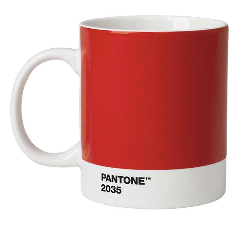Pantone Henkelbecher 375 ml Porzellan Red 2035 - Pic 1