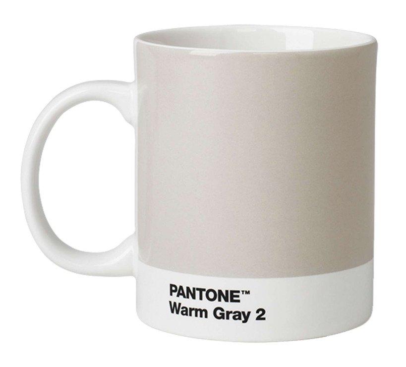 Pantone Henkelbecher 375 ml Porzellan Warm Gray 2 - Pic 1
