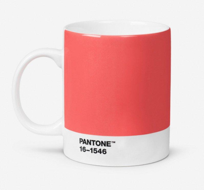 Pantone Henkelbecher 375 ml Porzellan Living Coral 16-1546 - Pic 1