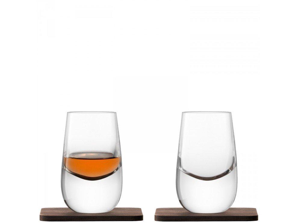 LSA Whiskyglas Islay 80ml mit Untersetzer 2er Set - Pic 1