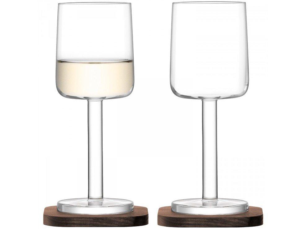 LSA Weißweinglas City Bar 240ml mit Untersetzer 2er Set - Pic 1