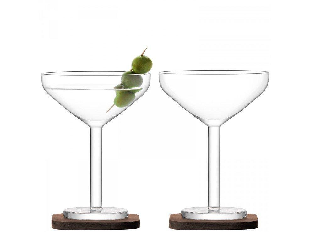 LSA Cocktailglas City Bar 250ml mit Untersetzer 2er Set - Pic 1