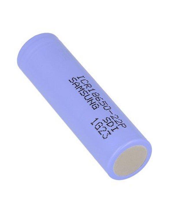 Samsung ICR 18650 Akku Batterie 22P 2200mAh 3.6V Button Top - Pic 1
