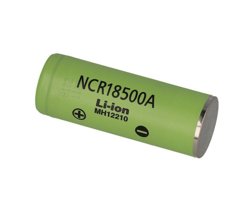 Panasonic NCR 18500 A 2040mAh - 3,8A Li-Ion-Akku Batterie Pluspol flach - Pic 1