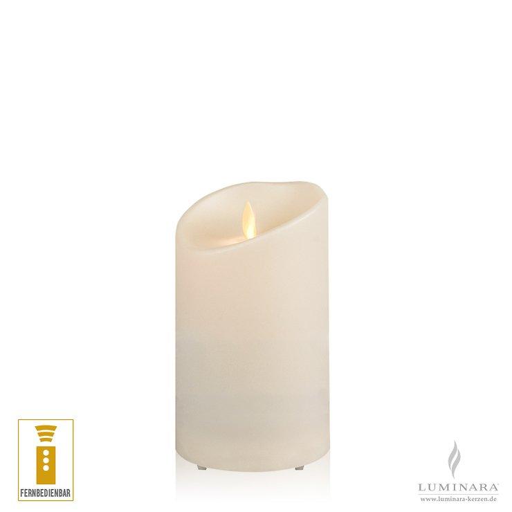Luminara LED Kerze Outdoor 9x14 cm elfenbein fernbedienbar - Pic 1