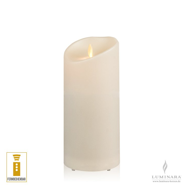Luminara LED Kerze Outdoor 9x18 cm elfenbein fernbedienbar - Pic 1