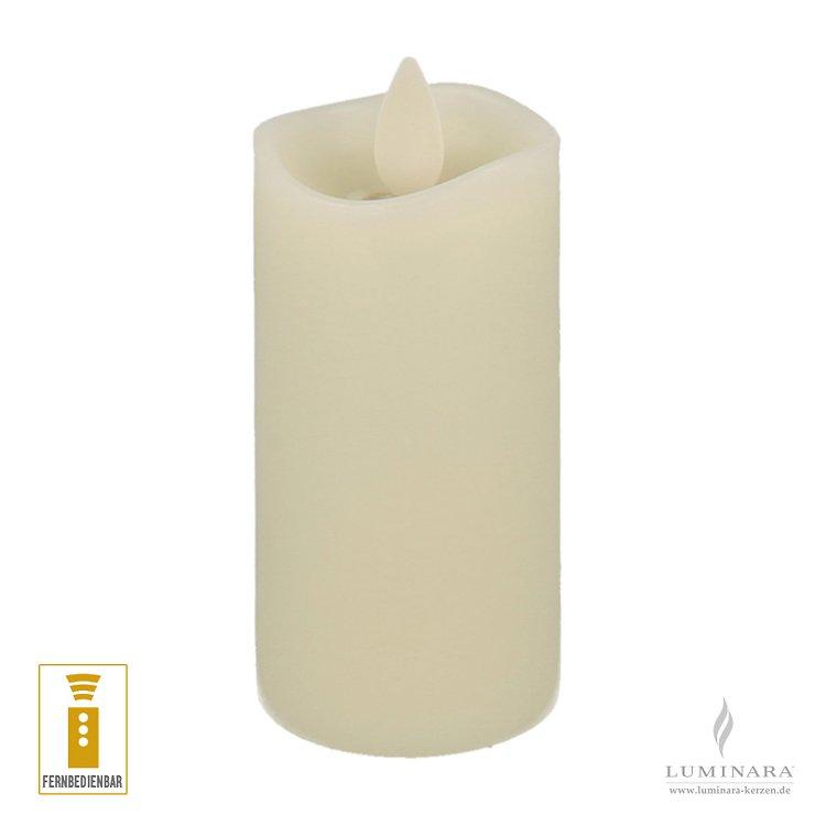 Luminara LED Kerze Votiv Echtwachs 5x10 cm elfenbein fernbedienbar - Pic 1