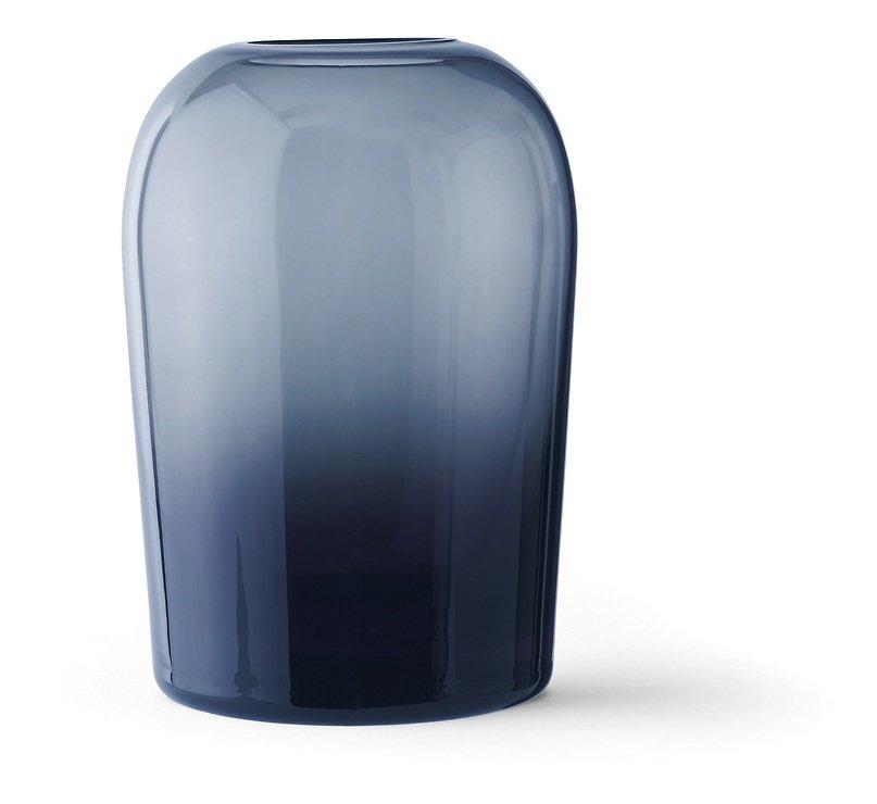 Menu Vase Troll L 13 x 19 cm Glas mitternachtsblau - Pic 1