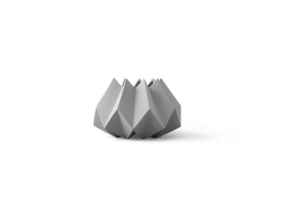 Menu Vase Folded 22 x 15cm Keramik ash - Pic 1