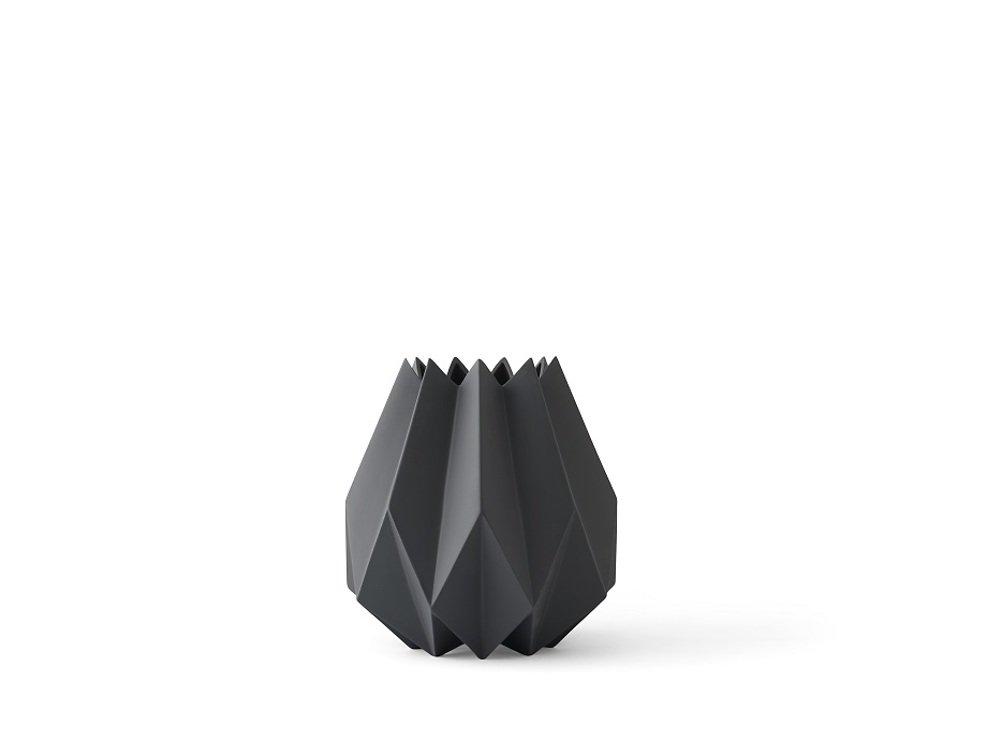 Menu Vase Folded 13 x 23cm Keramik carbon - Pic 1