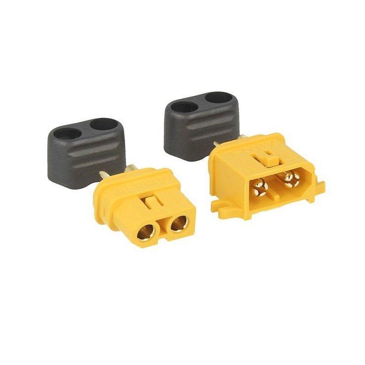 XT60-L Buchse u. Stecker mit Lasche - gelb Redbee - Pic 1