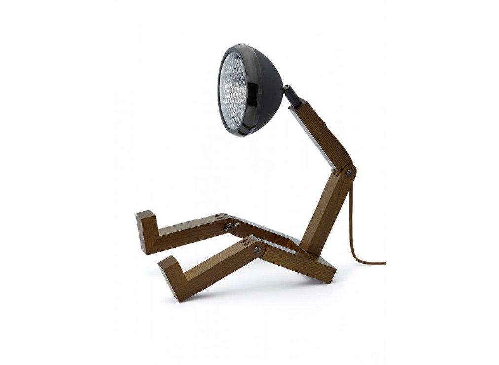 MR WATTSON Original 12 V LED Tischlampe Esche smoked Metall schwarz matt - Pic 1