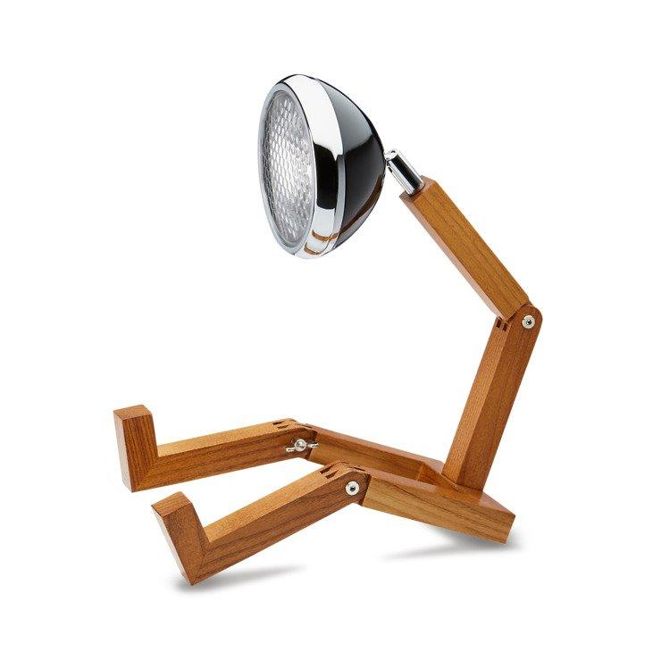 MR WATTSON Original 12 V LED Tischlampe Esche natur Metall Fashion Black - Pic 1