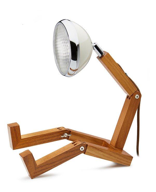 MR WATTSON Original LED Tischlampe Esche natur Metall Vintage White - Pic 1