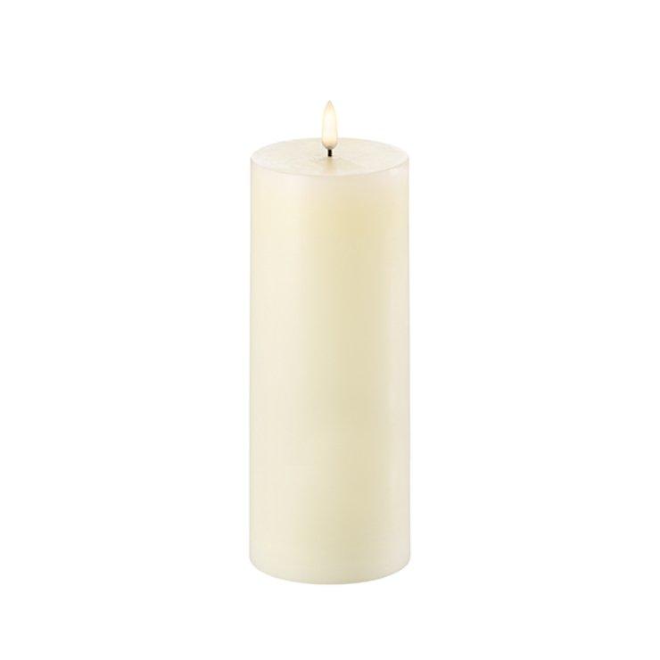 UYUNI Lighting LED Kerze PILLAR 7,8 x 20 cm ivory - Pic 1