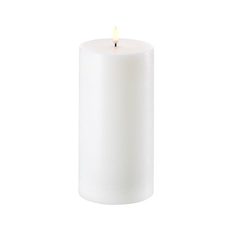 UYUNI Lighting LED Kerze PILLAR 10,1 x 20 cm weiss - Pic 1