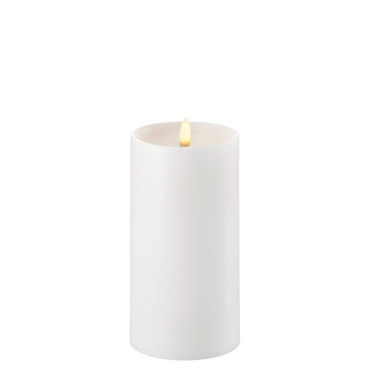 UYUNI Lighting LED Kerze PILLAR tiefer Docht 7,8 x 15 cm weiss - Pic 1