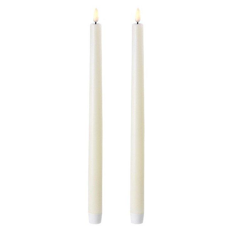 UYUNI Lighting LED Stabkerzen 2er Set 2,3 x 35 cm ivory - Pic 1