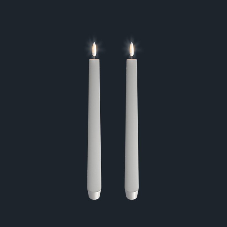UYUNI Lighting LED Stabkerzen Set 2,5 x 28 cm weiß - Pic 1