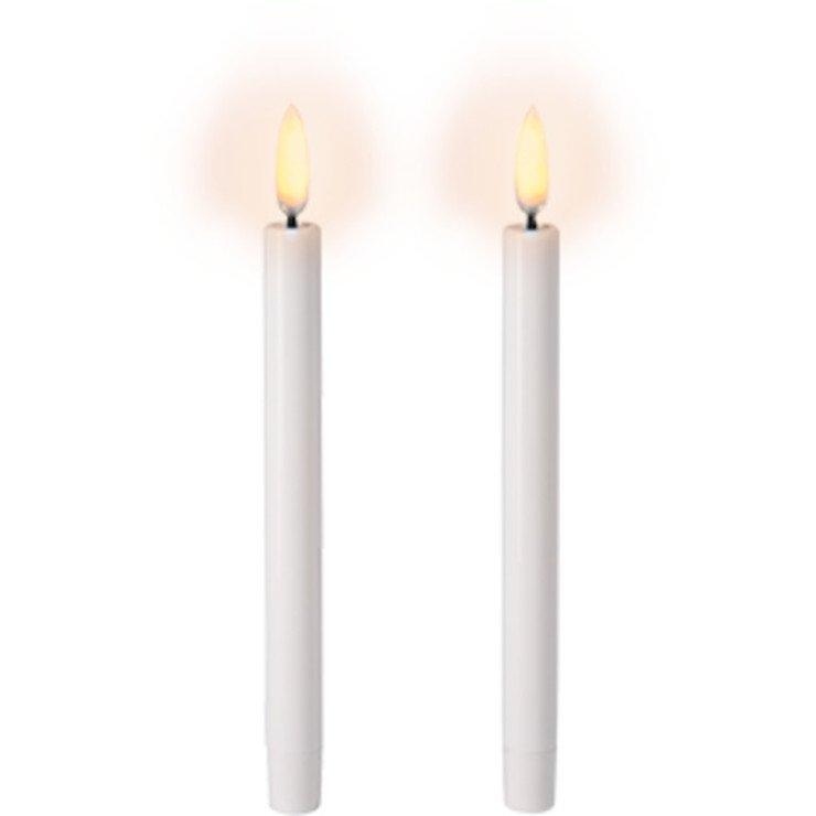 UYUNI Lighting LED Mini Stabkerzen 2er Set 1,3 x 13 cm weiss - Pic 1