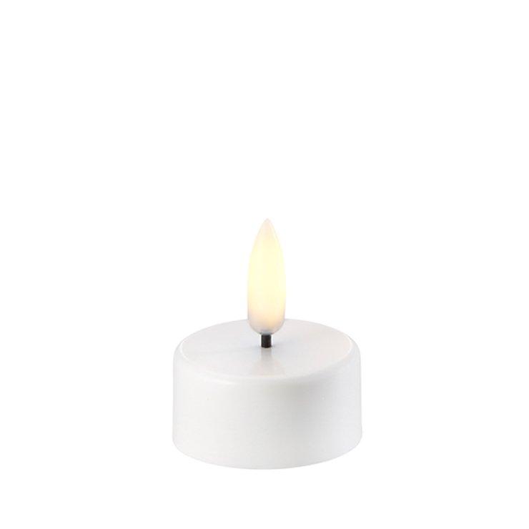 UYUNI Lighting LED Teelicht PILLAR 3,8 x 4,7 cm weiss - Pic 1