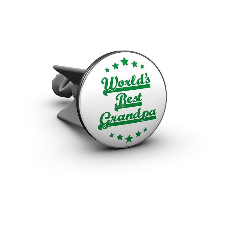 Plopp Waschbeckenstöpsel Worlds Best Grandpa - Pic 1