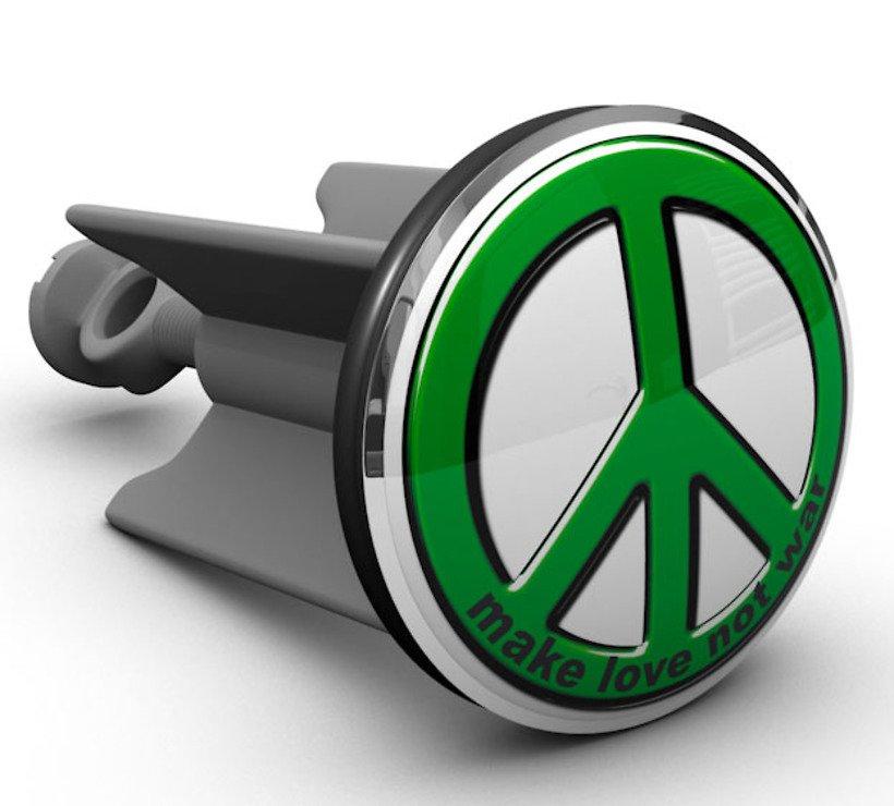 Plopp Waschbeckenstöpsel Peace - Pic 1