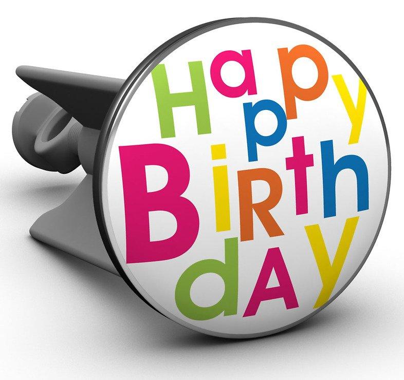 Plopp Waschbeckenstöpsel Happy Birthday - Pic 1