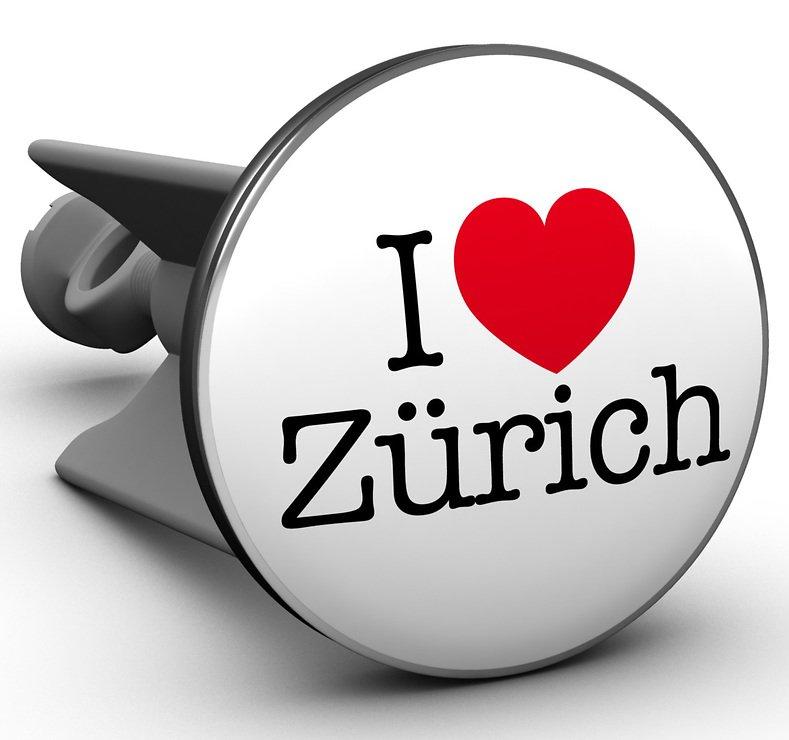 Plopp Waschbeckenstöpsel I love Zürich - Pic 1