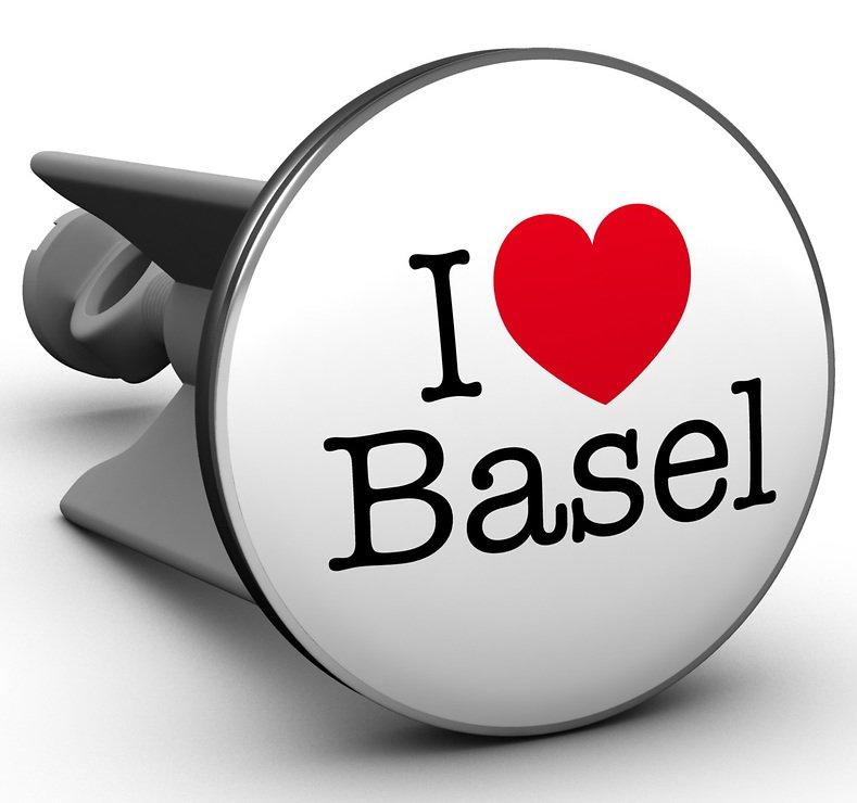 Plopp Waschbeckenstöpsel I love Basel - Pic 1