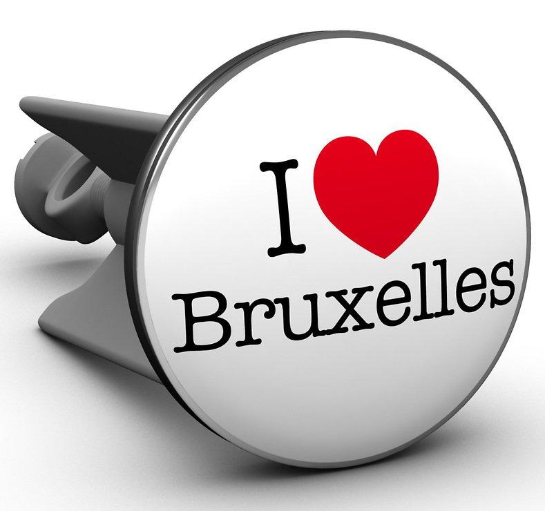 Plopp Waschbeckenstöpsel I love Bruxelles - Pic 1