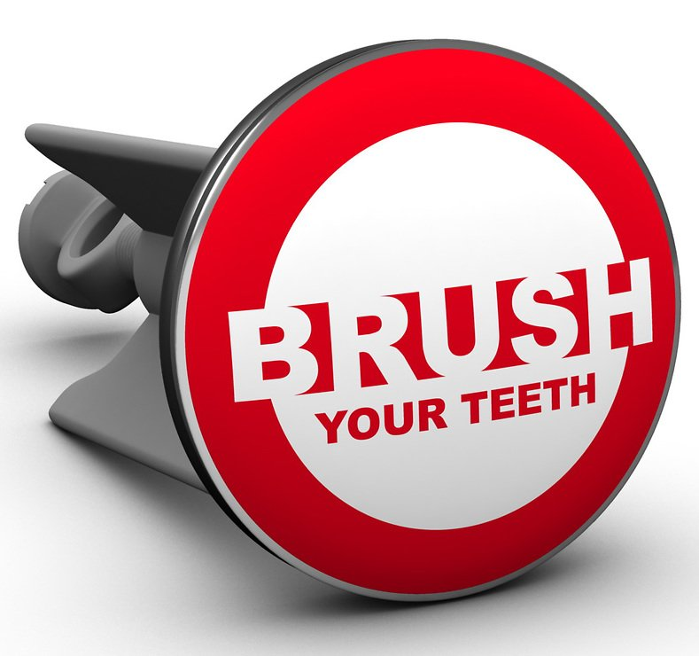 Plopp Waschbeckenstöpsel Brush Your Teeth - Pic 1