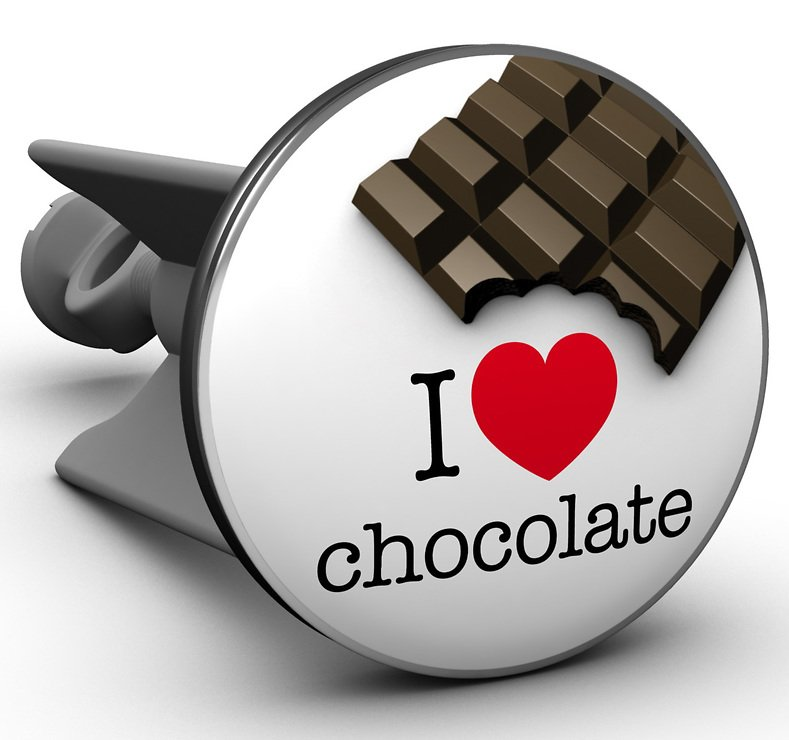 Plopp Waschbeckenstöpsel I love chocolate - Pic 1