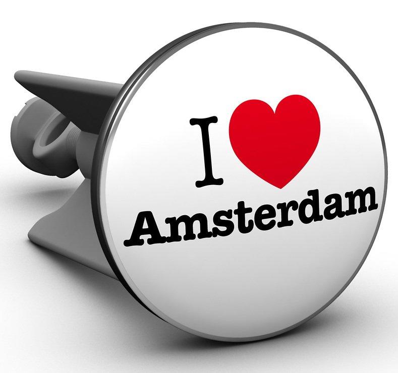 Plopp Waschbeckenstöpsel I love Amsterdam - Pic 1