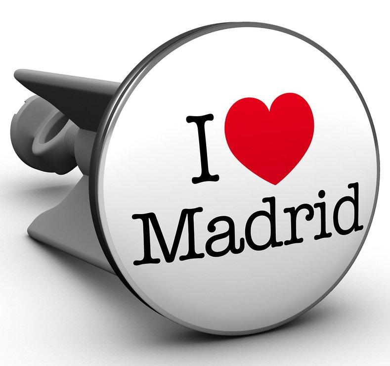 Plopp Waschbeckenstöpsel I love Madrid - Pic 1