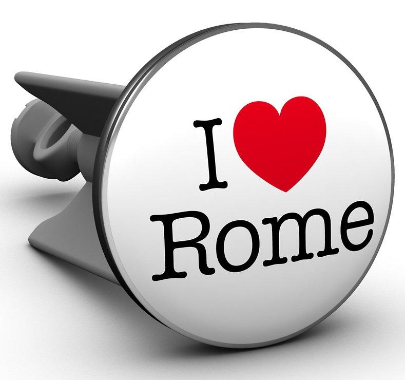 Plopp Waschbeckenstöpsel I love Rome - Pic 1