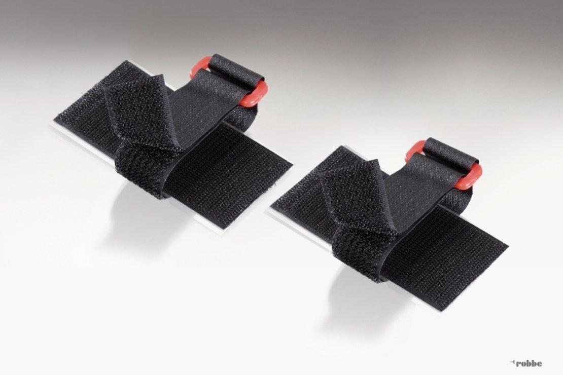 FASTECH FAST-Akkufix Klettband selbstklebend 2er Set 50 x 100mm schwarz - Pic 1
