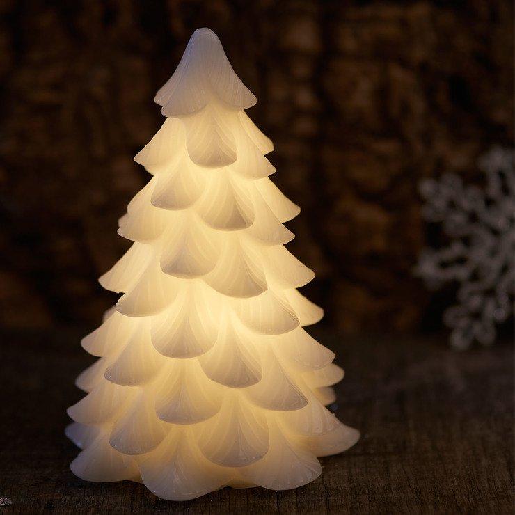 Sirius LED Tannenbaum Carla Echtwachs 16 cm weiß - Pic 1