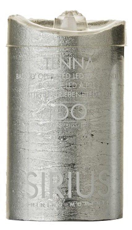 Sirius LED Kerze Tenna 7,5 x 12,5cm Timer silber metallic - Pic 1