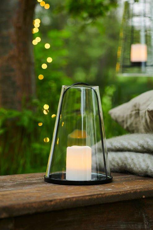 Sirius Albert Tisch Windlicht aus Glas mit LED Kerze - Pic 1