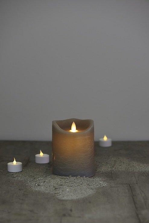 Sirius LED Kerze Sara 10 x 12,5 cm Batterie Timer rustic ash - Pic 1