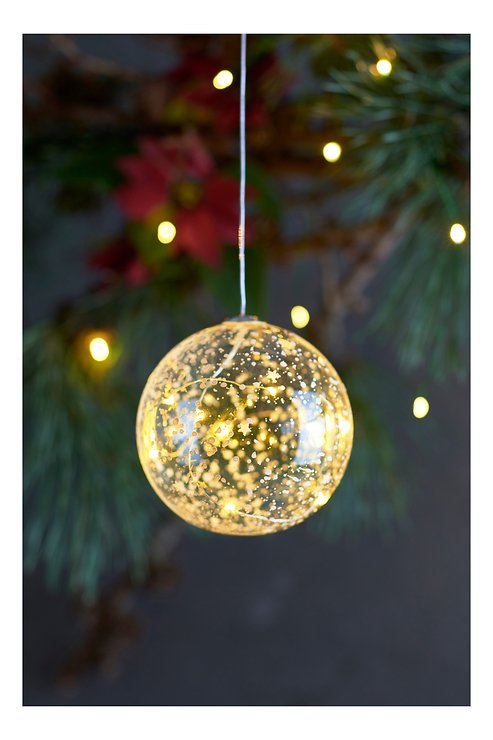 Sirius Leuchtkugel Romantic Ball batteriebetrieben 8 LED 10cm klar - Pic 1