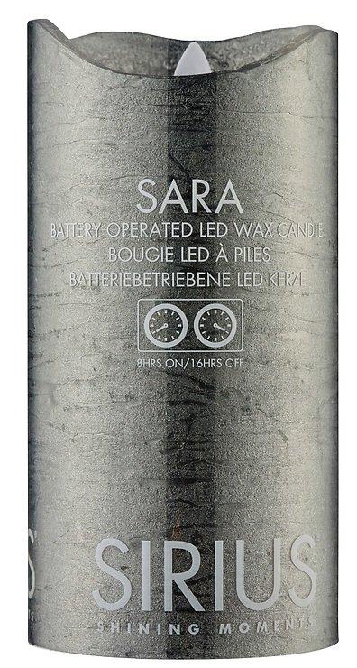 Sirius LED Kerze Sara 7,5 x 15cm Timer schwarz metallic - Pic 1